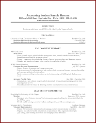 Resume Work History Examples by Example Of Resume Employment History