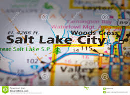Utah Road Map by Salt Lake City Utah On Map Stock Photo Image 89393818