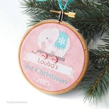 Custom Baby Ornaments 122 Best Christmas Ornaments Baby U0027s First Images On Pinterest