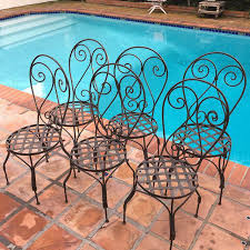 Moroccan Patio Furniture Outdoor Moroccan Patio Chairs Set Of 6 Chairish
