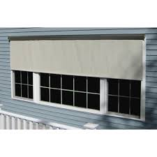 Clear Vinyl Roll Up Blinds Outdoor by Outdoor Shades Shades The Home Depot