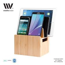 amazon com mobilevision bamboo charging station stand and multi