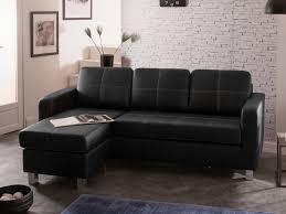 canap d angle simili cuir noir canapé d angle réversible avec coussins amovibles en