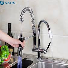 kitchen faucet 3 kitchen sink faucet 3 color led light rotatable hose pull