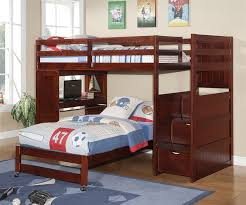 wooden loft bunk bed with desk manhattan stair loft bunk bed bedroom furniture beds donco trading