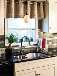 Ideas For Kitchen Curtains Kitchen Sink Curtains Size Of Window Window Treatment Ideas