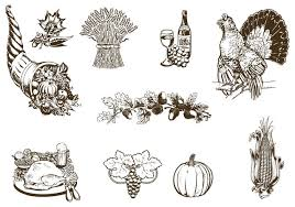 vintage thanksgiving vector pack free vector stock