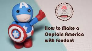 captain america cake topper how to make captain america as cake topper with fondant