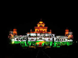 albert hall museum wonderfully decorated in the colors of indian