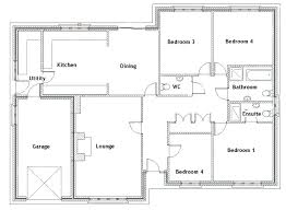 simple four bedroom house plans 3 bedroom bungalow plans simple bungalow floor plans simple 4