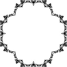 ornamental flowery frame domain vectors