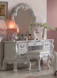 Antique White Bedroom Vanity Dresden Traditional Antique White Solid Wood Mdf Vanity Desk