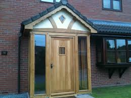 enclosed oak framed porch herefordshire home exterior and yard