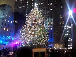 in rockefeller center nyc the tree lighting december