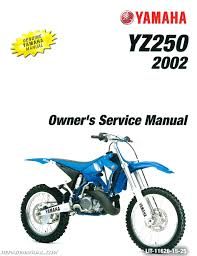 2002 yamaha yz250 motorcycle owners service manual lit 11626 15