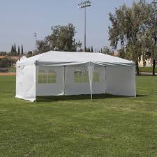 10 X 20 Shade Canopy by Belleze Easy Pop Up Canopy Party Tent 10 X 20 Feet Silver White