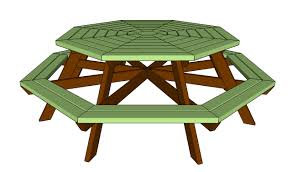 Free Plans Hexagon Picnic Table by How To Build An Octagon Picnic Table Howtospecialist How To