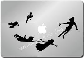 amazon com peter pan shadow apple macbook ipad laptop vinyl decal