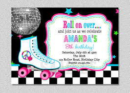 roller skating birthday invitation roller by thetrendybutterfly