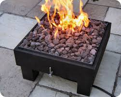 Firepits Co Uk Portable Square Powder Coat Gas Pit Firepits Uk
