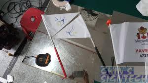 Extending Flag Pole Telescopic Flag Poles For Tourist Guide