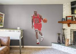 life size michael jordan fathead wall decal shop chicago bulls michael jordan fathead wall decal