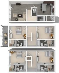 arlington lsu off campus 4 bedroom student townhome apartments for