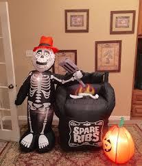 airblown halloween image gemmy prototype halloween skeleton spare ribs inflatable