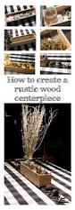 rustic wood centerpiece u2014 crafty staci