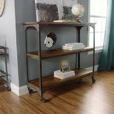 wonderful console table with shelves fresh decoration logan