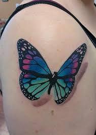 colorful 3d monarch butterfly on shoulder golfian com
