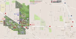 Map Southern Oregon by Parking And Seating Commencement