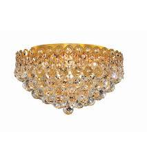 gold flush mount light elegant lighting 1901f16g ss century 4 light 16 inch gold flush