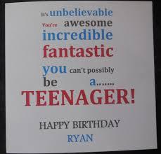 personalised teenager 13th birthday card boys or girls ebay