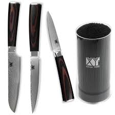 reviews xyj 6 knife holder with 3pcs kitchen knives 3 5 5 5 fruit