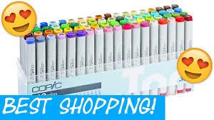 best copic marker shopping store tokyo japan art supplies haul