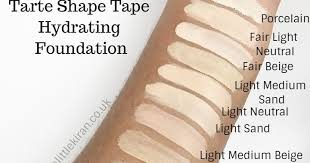 tarte light medium neutral first look tarte shape tape hydrating and matte foundations