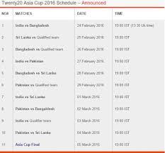 2016 ipl match list cricinfoscoreupdates t20 asiacup 2016 ipl live score and ipl live