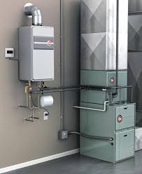 using a tankless water heater for space heat