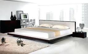Bed With Headboard Platform Bed And Headboard Platform Bed King Tiger Mahogany King