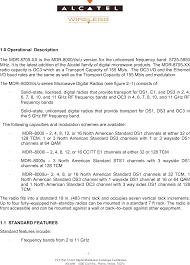 8705u 8 mdr8000 digital microwave radio operational description