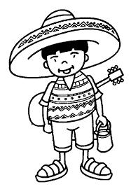 coloriage pays et regions mexicains à colorier allofamille