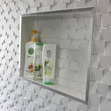 Bathroom Wallpaper Modern Bathroom Shower Niche Recessed Wall By Da K Liner Bathroom
