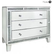 Good Quality White Bedroom Furniture Mirrored Crystal Chest Of Drawers High Quality Bedroom Mirrored
