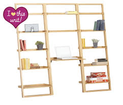 crate and barrel ladder desk innovative workspace sloane leaning desk bookcases