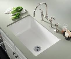 Sink For Kitchen White Cast Iron Undermount Kitchen Sink Kohler Single Basin