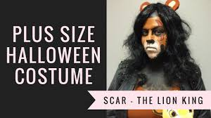 Plus Size Halloween Costume Diy Scar From The Lion King 2016