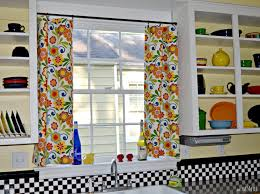 colorful kitchen curtains decor trends including picture