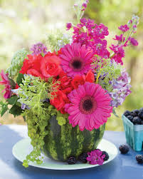 How To Make A Flower Centerpiece Arrangements by Create Summer Floral Arrangements In Fruit Southern Lady Mag