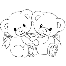 teddy bear flowers coloring pages